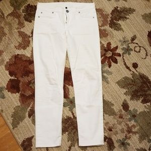 White jeans- distressed